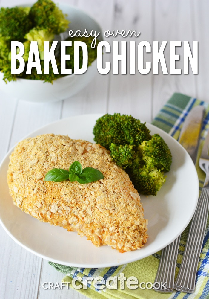 Our oven baked chicken recipe is perfect for a weeknight meal or a holiday dinner party.