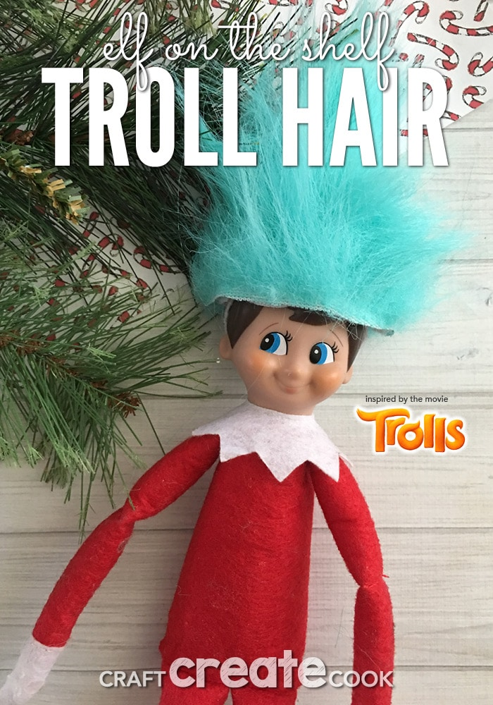 It's about that time for Elf on the shelf to make his first appearance of the year and this DIY Elf On The Shelf Troll Wig will be a perfect way to welcome him back.
