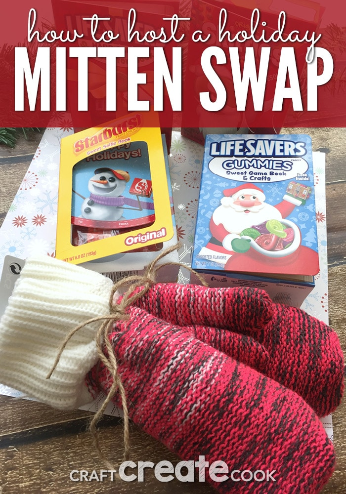 Get in the holiday spirit by hosting a fun and unique mitten swap!