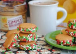 Santa will love these tasty little peanut butter no bake sandwiches!