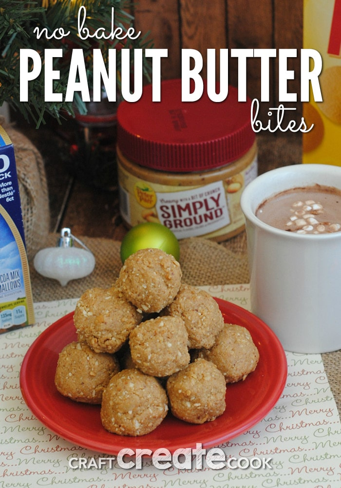 These easy no bake peanut butter bites are perfect for Santa!