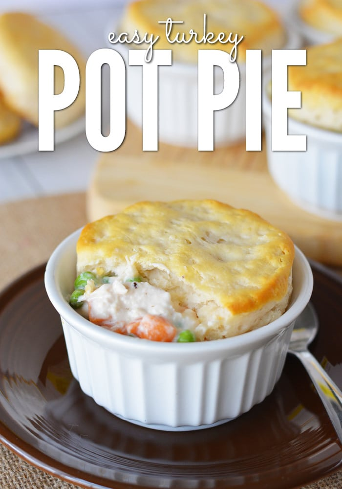 This easy turkey pot pie recipe is great for using leftover turkey!