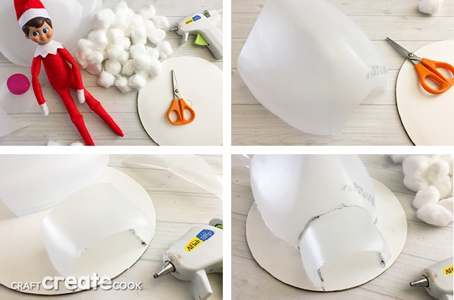 The kids will love this surprise igloo made by your handyman elf on the shelf.