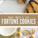 Need a fun and festive last minute treat for New Year's Eve? These New Year's Eve fortune cookies are easy to make and fun to eat!