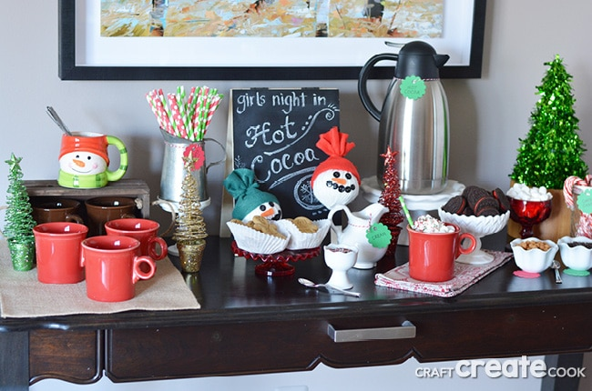Holiday entertaining is easy with this hot cocoa bar.