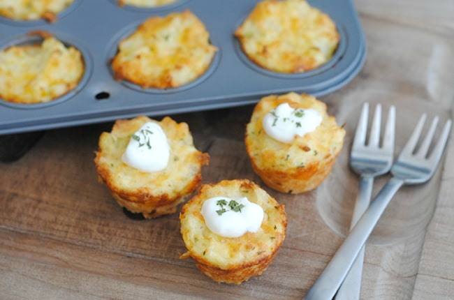Mashed Potato Bites are a tasty way to use up leftover mashed potatoes!