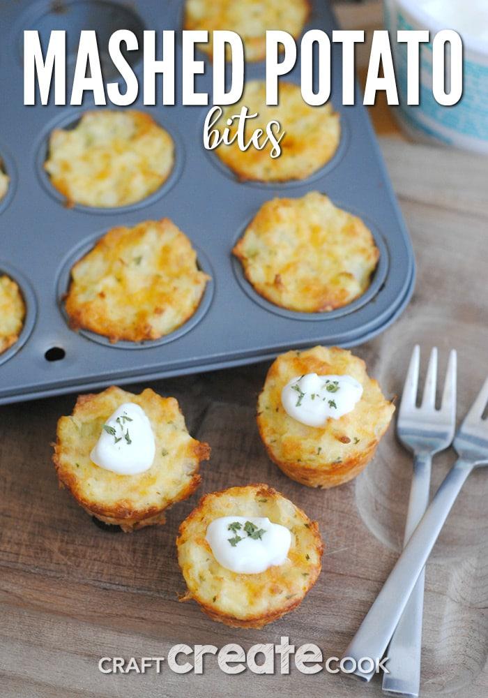 Mashed Potato Bites are a tasty way to use up leftover mashed potatoes!