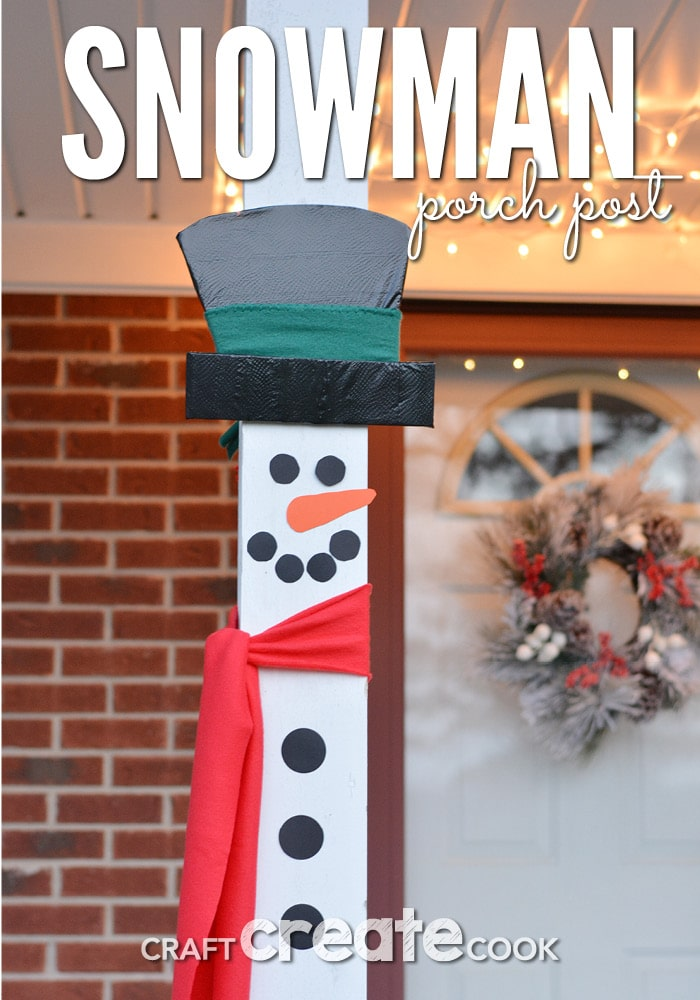 Make these easy snowman porc decoratiosn to add to your outdoor holiday decorations.