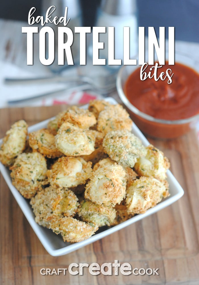 These baked tortellini bites are the perfect appetizer for any get together!