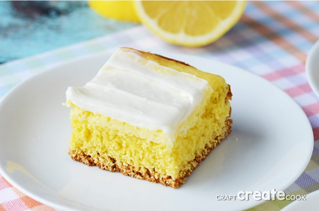 Cream Cheese Lemon Bars from CraftCreateCook.com