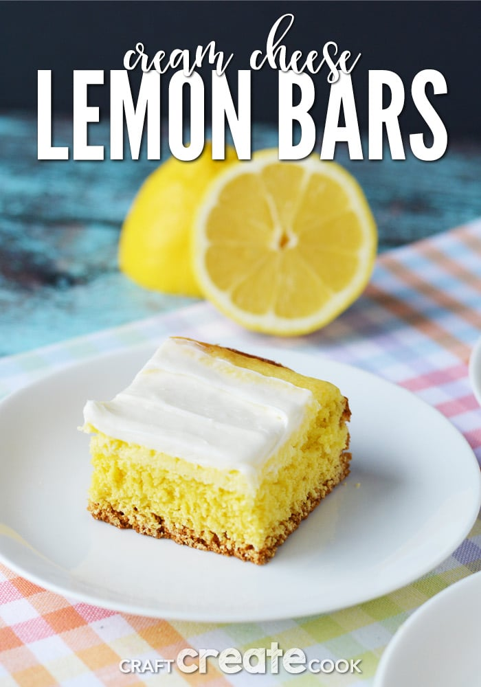 Cream Cheese Lemon Bars from CraftCreateCook