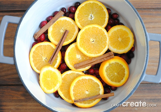 Make your home smell heavenly this holiday season with our homemade cranberry, orange & clove stove top potpourri!