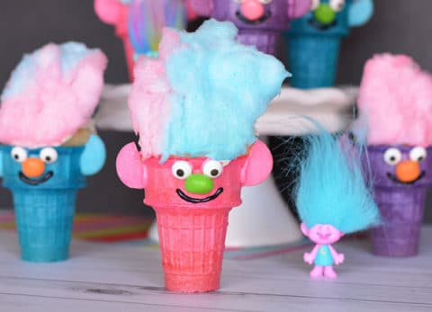 According to Poppy, Cupcakes and Rainbows are the perfect combination! These troll cupcakes are just that!