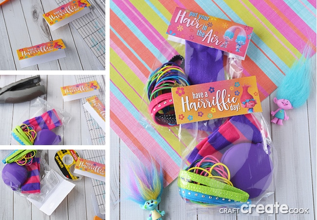These fun, inexpensive and functional troll party favors are perfect for guests! PLUS, we've got a FREE Troll Party Bag Topper!