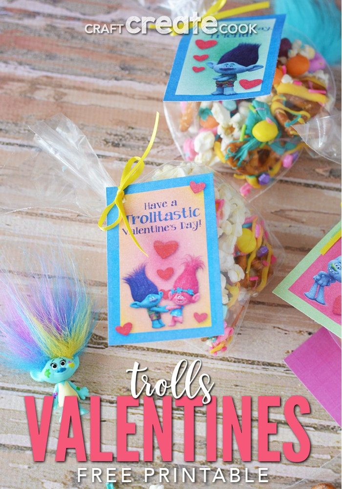 this troll valentine snack mix will be a big hit at this years classroom parties