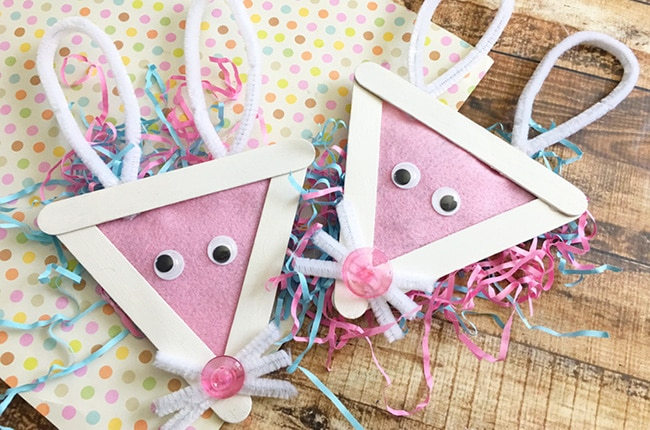 Craft Create Cook Easy Easter Bunny Popsicle Stick Craft For Kids