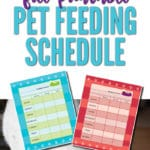 Our Free Printable Pet Feeding Schedule will help you remember to feed your pet