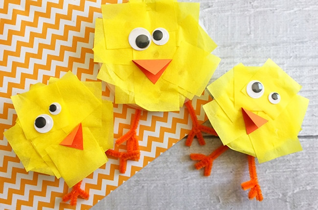 Craft Create Cook Bottle Cap Chicks Easter Crafts Craft Create Cook