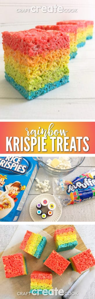 You'll want to try our Rainbow Rice Krispie Treats for an ultra satisfying dessert.