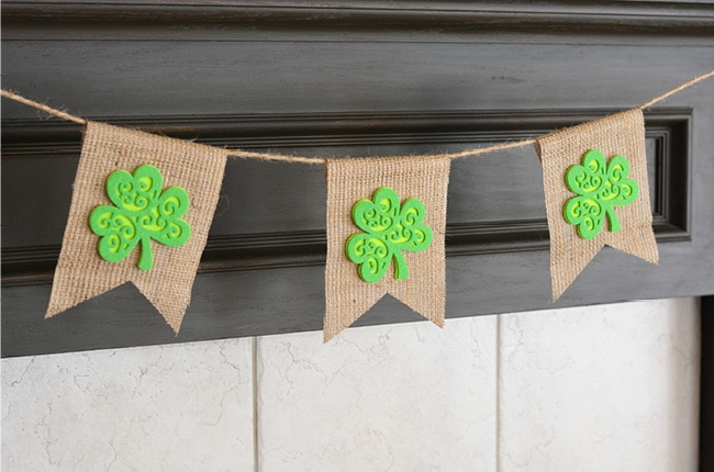 Our no sew shamrock bunting banner is the perfect accessory to your St. Patrick's Day Decorations!