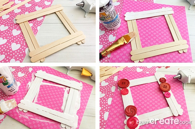 Craft Create Cook - Valentine Popsicle Stick Craft - Craft Create Cook