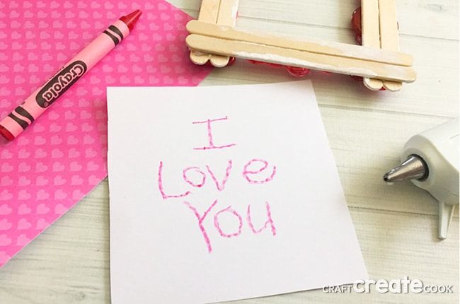 This Valentine Popsicle Stick Craft is such a cute and simple frame for the kids to make and give as a Valentine's Day gift.