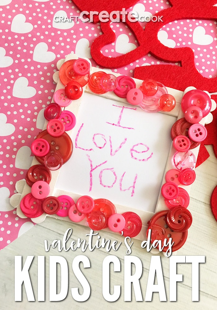 This Valentine Popsicle Stick Craft Is Such A Cute And Simple Frame For The  Kids To