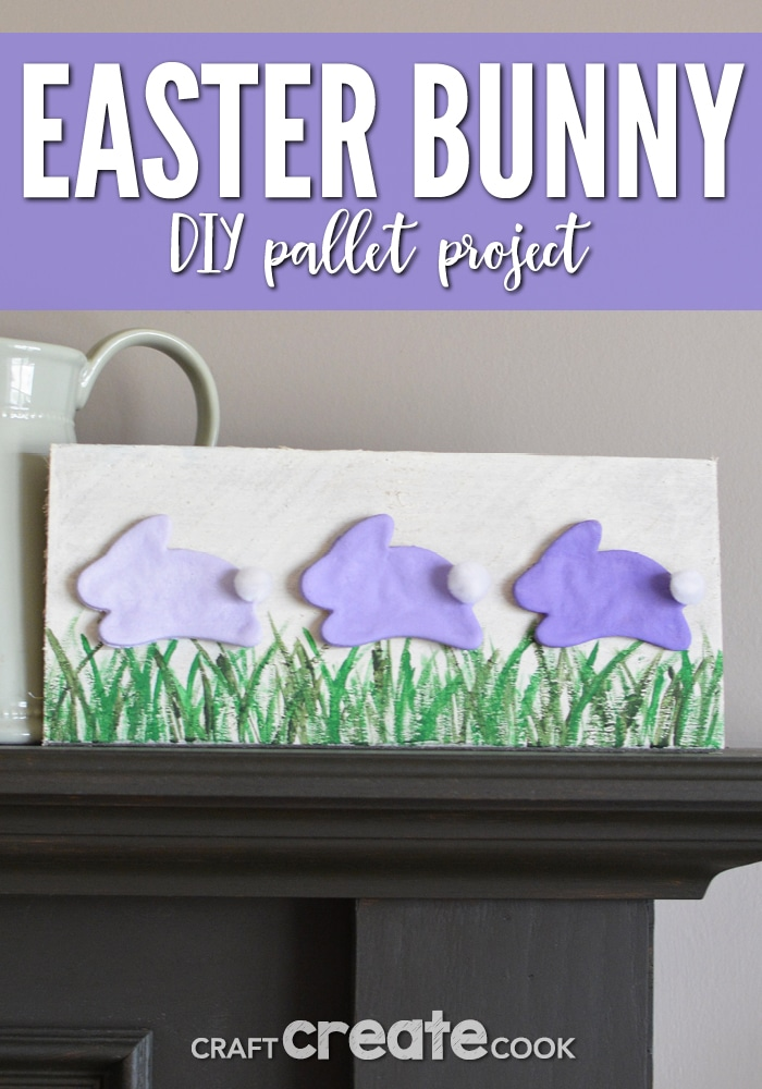 You won't believe how easy this DIY Easter Pallet Project is! Plus, it's a great piece of home decor for the coming season!