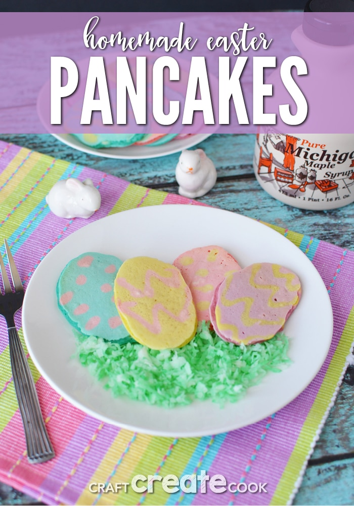 Homemade Easter Pancakes will have everyone asking for more, please!
