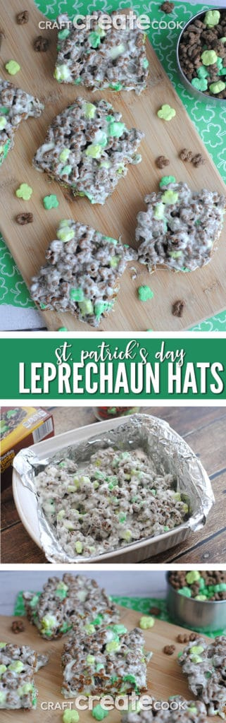 These St. Patrick's Chocolate Lucky Charm Treats are a cinch to make and are chocolately delicious!