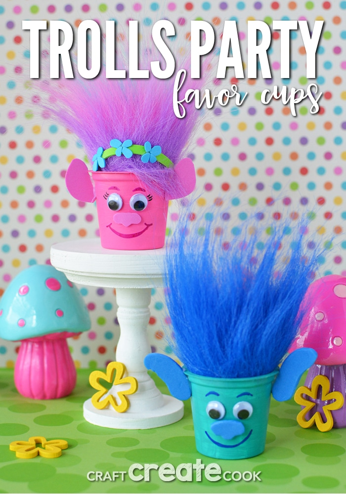 Reuse K-Cups to make Poppy and Branch Trolls Party Favors and fill with candy!