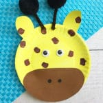 April the Giraffe Inspired Paper Plate Craft