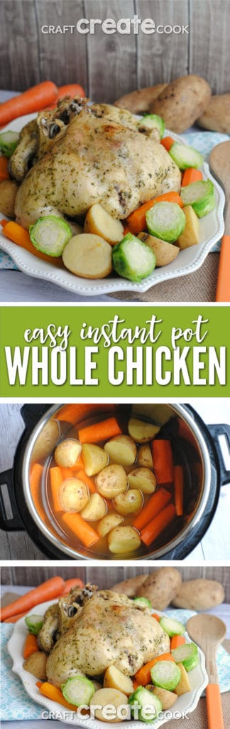 Whole Instant Pot Chicken is the perfect dinner recipe for busy families!