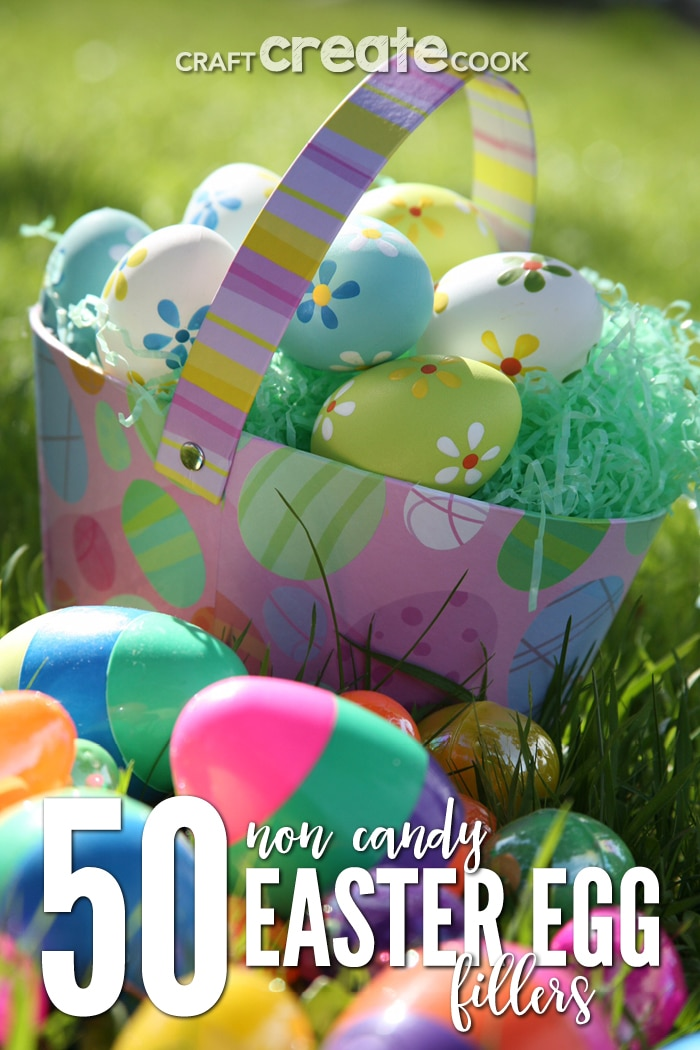 If you're looking for Ideas for a candy free Easter or at least a little less candy than usual, you'll want to check out our list of 50 Candy Free Easter Egg Fillers for Kids.