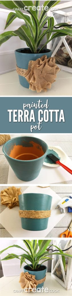 This DIY Shabby Chic Terra Cotta Pot is sure to add lots of style to your space with little cost.