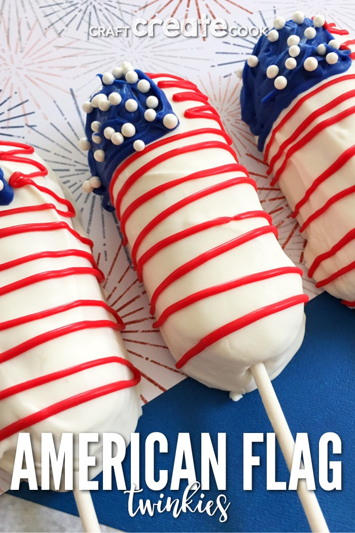 Our American Flag Treats on a Stick are the perfect addition to a 4th of July BBQ!