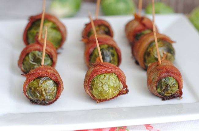 Bacon wrapped brussels sprouts are easy, delicious and the perfect side dish for almost any meal!