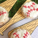 Baseball Rice Krispie Treats with Free Printable