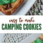 Decorate traditional cookies to make these adorable camping cookies!