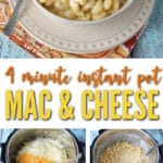 4 minute instant pot mac and cheese with bacon will change your life!