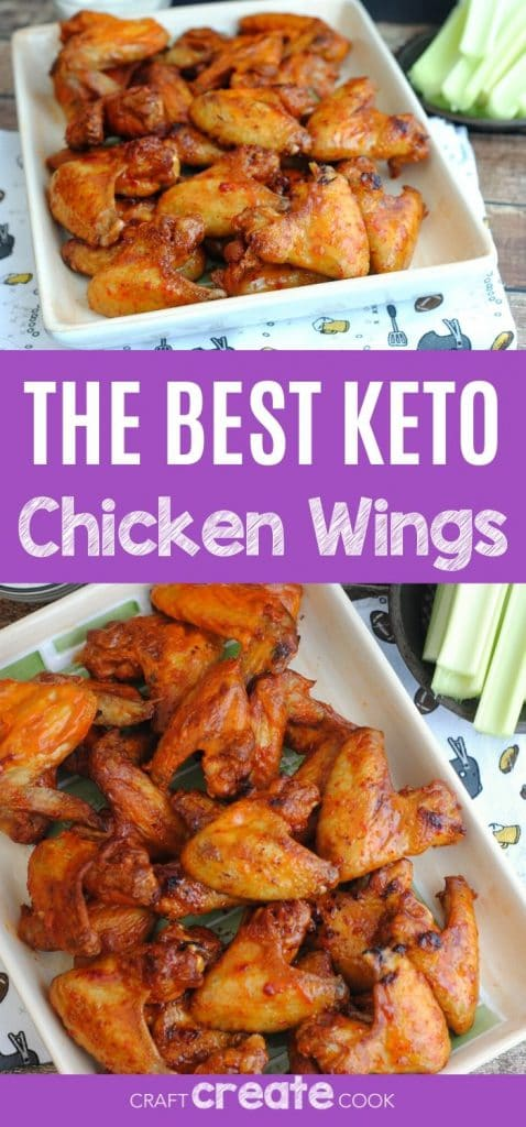 Keto chicken wings collage