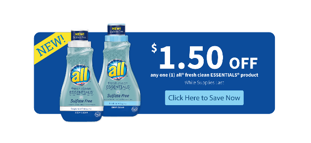 All Laundry Money Saving Coupon