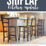 My shiplap kitchen update was a quick weekend project that almost anyone can complete!