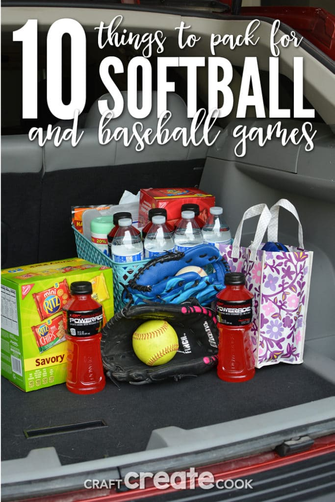 10 Things Every Baseball and Softball Parent Needs to pack in their vehicle for a successful sideline season.