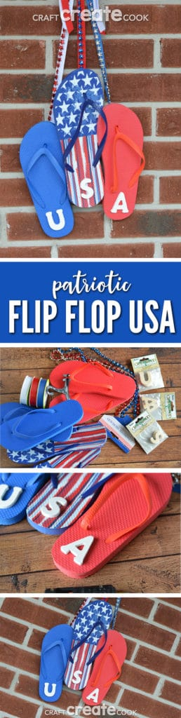 This patriotic USA flip flop sign is great for Memorial Day, the 4th of July or just to show your overall patriotism.