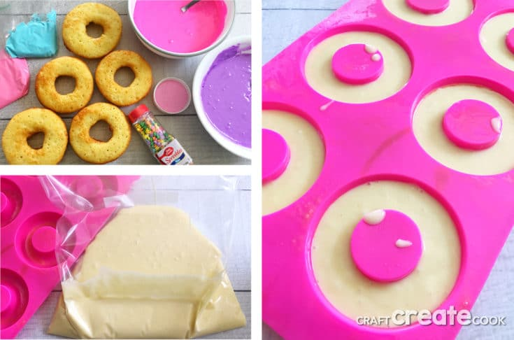 Make our Unicorn Cake Donuts and never buy another cake donut again when you see how fun and easy they are.
