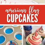 Our Easy American Flag Cupcakes are so festive and delicious, you'll want to make them for your 4th of July dessert!
