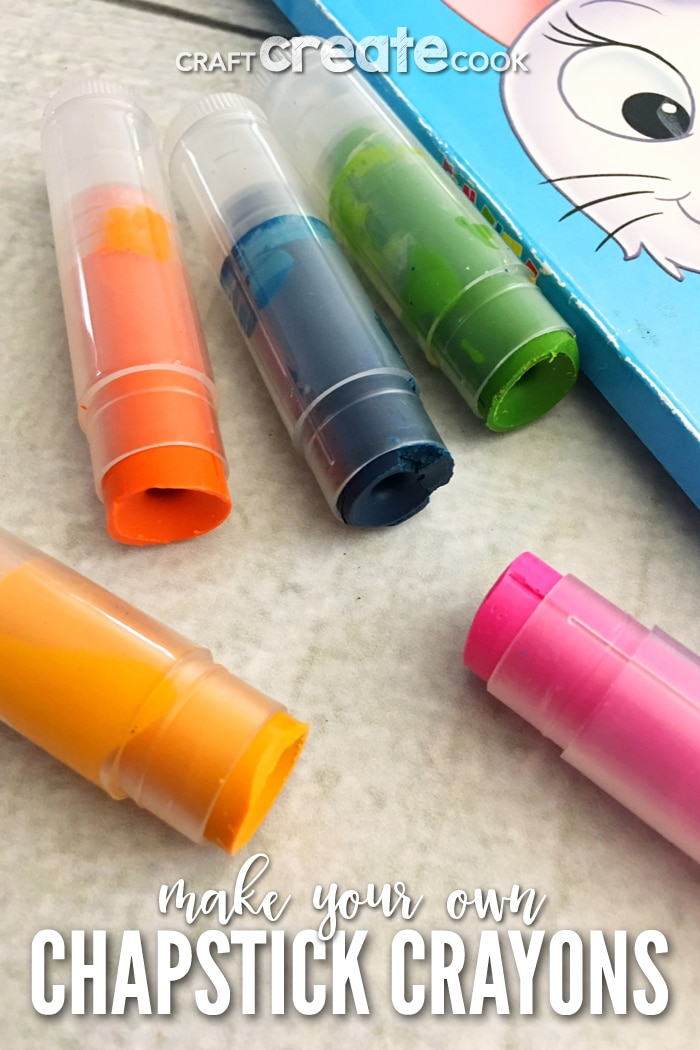 Crayons in lip balm containers
