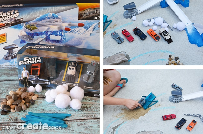 This DIY Racetrack for Toy Cars is perfect for the Fast & Furious fans in your home!