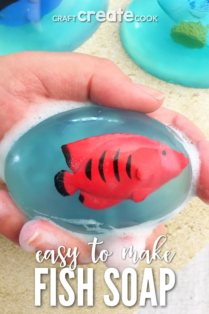 Our Under the Sea Pour and Melt Soaps make hand washing fun.